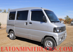 Mitsubishi 4x4 van used on guest ranches and farms