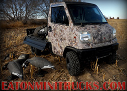 kings camo goose hunting truck