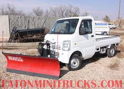 Boss Snow Plow on a 4x4 mini truck
