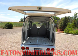 Cargo area seat down 4x4 mini van