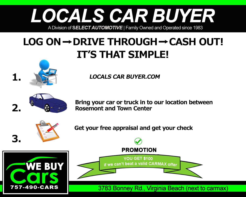 We Buy Any Cars Trucks SUV for 4 Cash Virginia Beach | Hampton Roads