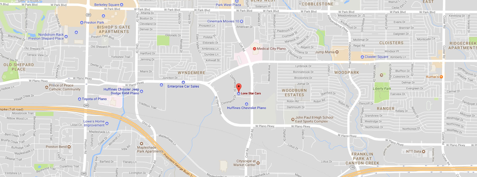 Map 1212 Commerce Drive Plano Texas, 75093