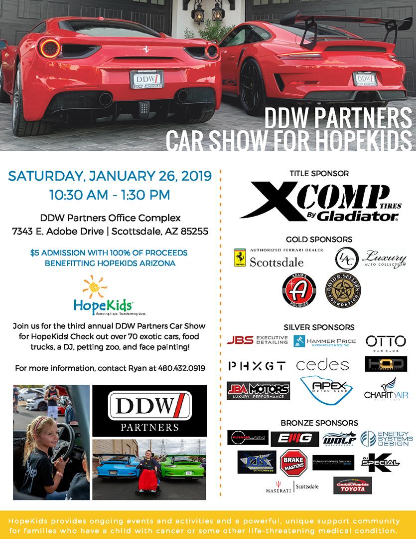 DDW Partners Car Show Flyer