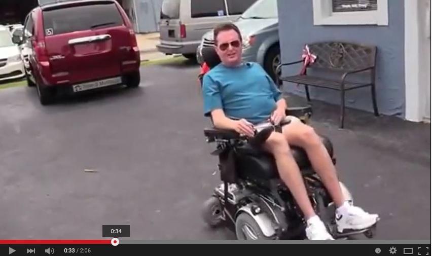Luiz perfers a Triple S Mobility rear entry wheelchair van over side entry wheelchair van